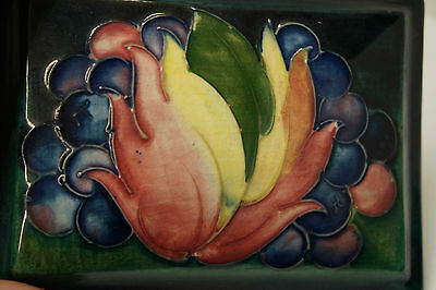Antique Moorcroft Leaf and Berry Trinket Box England