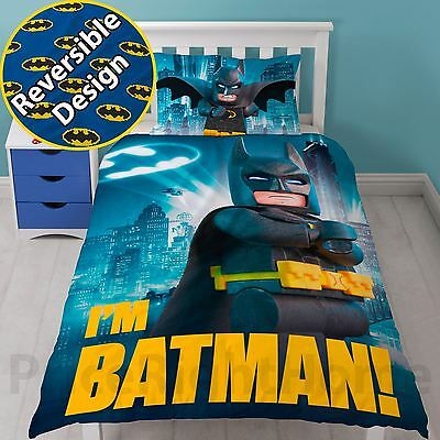Official Lego Movie Hero Single Duvet Cover And Pillowcase Set Free P+P New