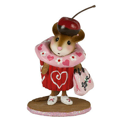 VALENTINE CUPCAKE TREAT by Wee Forest Folk, WFF# M-574e, LTD Valentines 2017