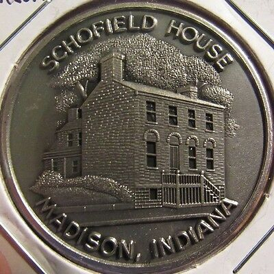 Vintage Madison, IN Schofield House Masonic Shrine Token Coin - Indiana