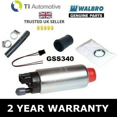 Genuine Walbro 255 Fuel Pump Upgrade - Gss340 + Fitting Kit - 2 Year Warranty