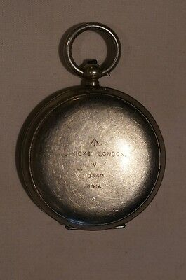 WW1 British BEF J Hicks London 1914 Dated Compass