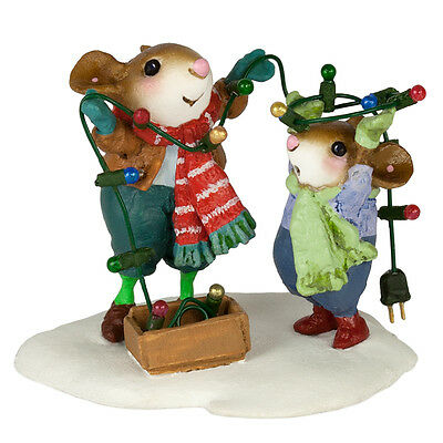 MERRY & BRIGHT by Wee Forest Folk, WFF# M-493a, New Mice for Christmas 2016