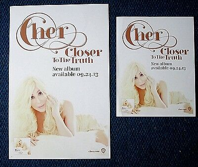 CHER 2013 lot Promo Poster and Handbill Closer To The Truth