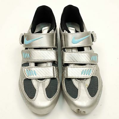 USED Nike Women's Cycling Shoes Size W 8.5 US 40 EUR Road Bike Spinning Training