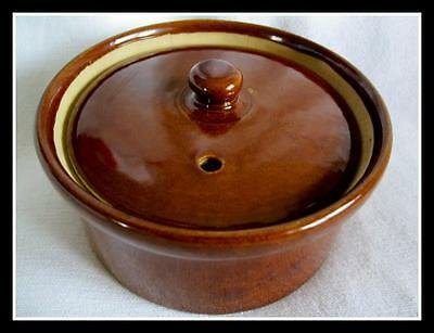 """Pearson's Of Chesterfield Crock Pot 5"""" With Lid Made In England 1/2 Quart"""