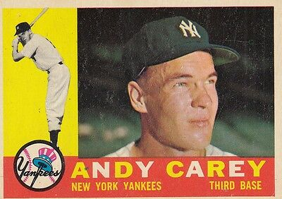 Topps 1960 #196 Andy Carey-New York Yankees