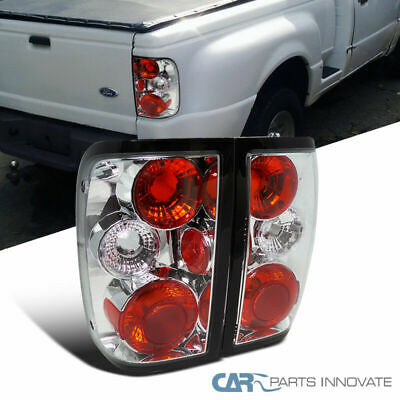 Ford 93 97 Ranger Pickup Tail Lights Brake Stop Rear Parking Lamps Chrome Clear