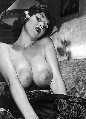 1960s Unknown Beauty Large Breasts Vintage Nude Pinup 8 x 10 Photograph
