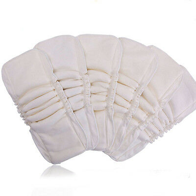 New 5 Layers Washable Baby Kids Bamboo Fiber Pocket Cloth Nappy Diaper Reusable