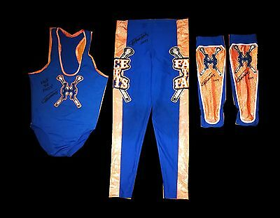 Wwe Curt Hawkins Hand Signed Ring Worn Autographed Complete Debut Outfit W/coa
