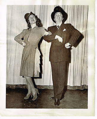 Joan Davis Show 1945  8x10 black & white TV photo  #1 - Joan Davis / Jack Haley