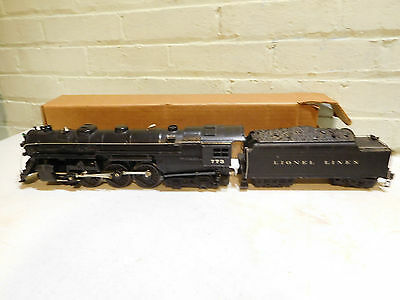 Lionel 773 Hudson Steam Locomotive and 2426W Tender Runs/Whistles Great!