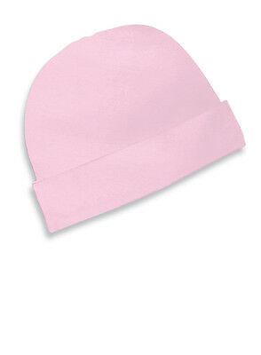 12 New Infant Baby Cotton Newborn Beanie Cap Rabbit Skins Pink 4451 Hats