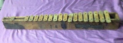 antique LARGE WOOD FRAME XYLOPHONE (29-1/4 INCHES LONG) vintage VERY RARE chimes