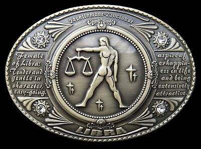 Libra Horoscope Zodiac Venus Equality Sign Belt Buckle Boucle De Ceintures
