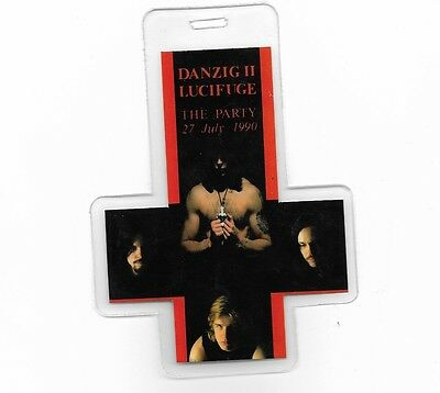 Danzig Upsidedown Cross Record Release Party Laminate Lucifage July 1990 Misfits
