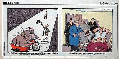 The Far Side by Gary Larson - lot of 18 color Sunday comic pages from late 1989