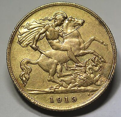 UK - 1913 George V Gold Half Sovereign VF