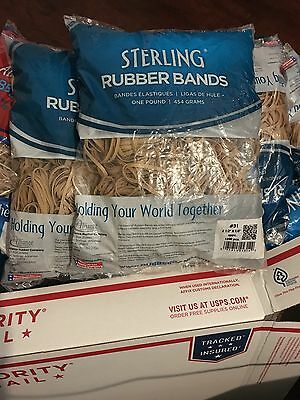 LOT 14 BAG,NEW RUBBER BANDS, 1 LB BAG, (14 Pound).$$2.35 e/a Free Shipping!!!!!!