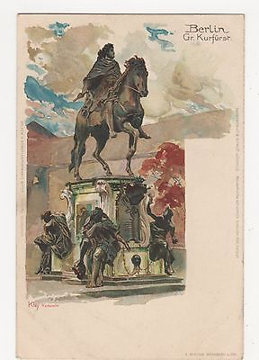 Germany, Berlin, Gr. Kurfurst, Kley Chromo Art Postcard, B044