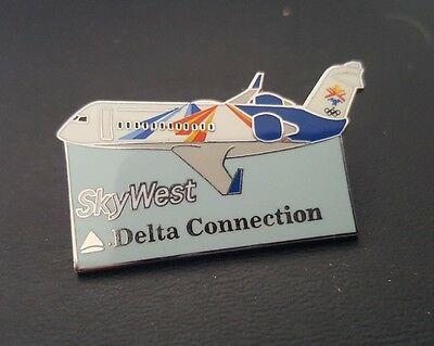 Vintage Delta Sky West Skywest Airlines Pin Olympics