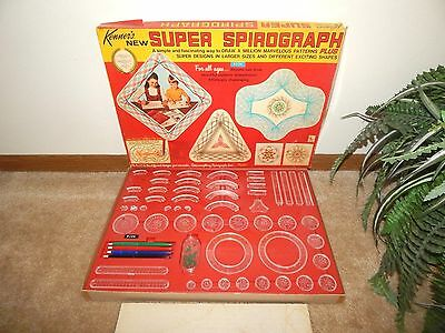 1967 Kenner SUPER SPIROGRAPH PLUS (Made in USA) w/ Pens ~ VINTAGE