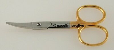 "48 Nail Scissors 3.5"" Gold Finish Nail Care Implements"