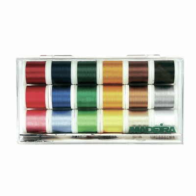 Madeira 8040 Rayon Embroidery Box With 18 Bobbins Of 200 M Each