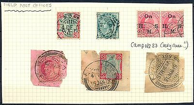 English Col India  7 St.=Field Post Offices = F/vf