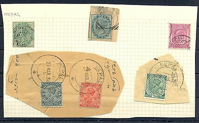 English Colony India -6 St.  Nepal  = Used Abroad -Forerunner  Most Vf