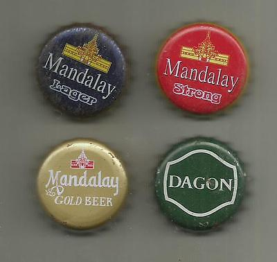 4 x Kronkorken / Bottle Crown Caps - BIER - MYANMAR - Beer (2)