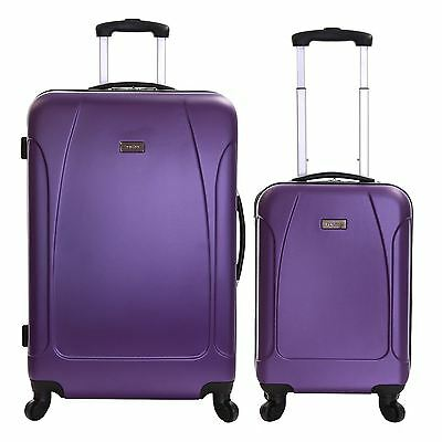 Karabar Set of 2 Hard Shell 4 Wheeled Luggage Trolleys Suitcases Cases Bags