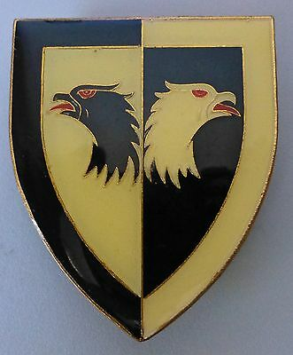 South Africa Army Joint Air Recce Intelligence Metal Eagle Red Tongue Arm Badge