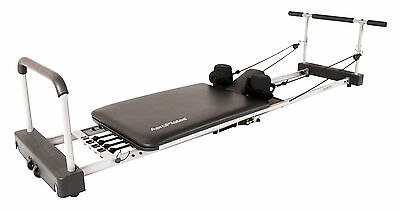 Aeropilates 4640 4 Corded Reformer Machine With Pull Up Bar & Cardio Rebounder
