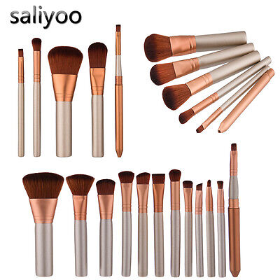 12pc Pennelli Make Up Cosmetic Brush Foundation Eyeliner Lip Brush Trucco Set