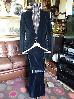 Vintage 1960's Anderson of London Black Velvet Psychedelic Freakbeat Suit.Small.
