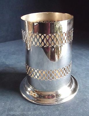 SUPERB ~ SILVER Plated ~ Pierced BOTTLE / Cutlery COASTER ~ c1920 ~ Marples & Co