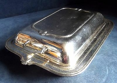 GOOD Large ~ ART DECO ~ SILVER Plated ~ SERVING Dish ~ c1930s