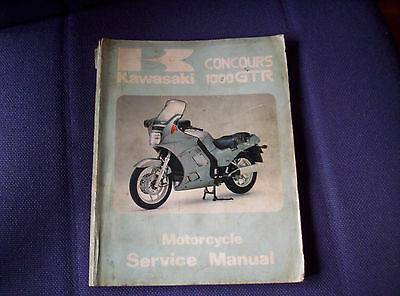 Kawasaki Gtr1000 Workshop Manual Genuine Kawasaki Free Post