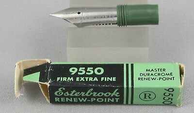 Esterbrook Renew-Point 9550 Firm Extra Fine Posting Nib In Box - New-Old-Stock