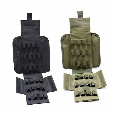 Tactical 12G Ammo Holder Shotgun Sling Molle 25 Round Reload Magazine Pouch US