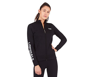 Lonsdale Women's Amanda Zip Sweater - Black/Silver