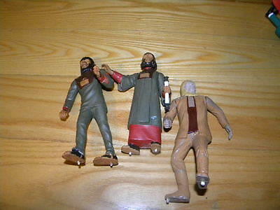 """Vintage Lot of 3 Aurora Planet of the Apes 6"""" Made Models No Bases"""