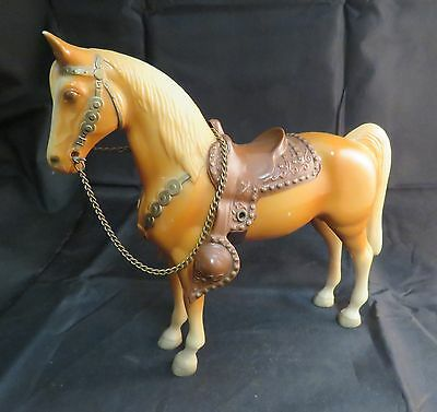 1950s/1960s Vintage Breyer Plastic Horse with Reins and Saddle