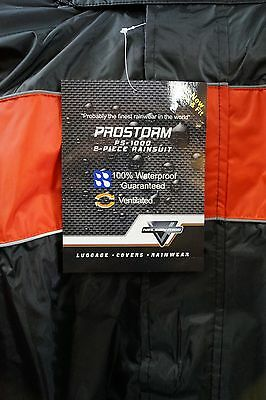 Nelson Riggs Motorcycle  Rain Suit Prostorm Ps-1000 - Mens Xxxxl 4X Black Red