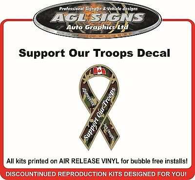 Support Our Troops Decal  Camo Sticker Canadian Version   Canada
