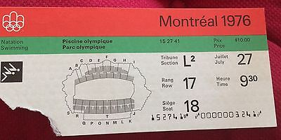 billet ticket JO jeux olympiques MONTREAL 1976 olympic games natation