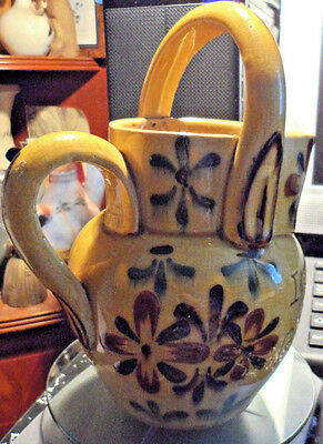 Victorian Kerswel Daisy Pattern Torquay Pottery Water Can. Late 1800S. Fair.8In