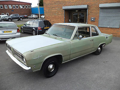 Plymouth Valiant Signet 225 V6 Auto 2Dr Coupe(1968)Solid Car! Exc Mopar Project